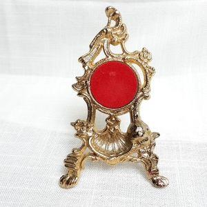 VTG cast metal ornate cherub easel watch holder